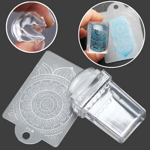 Image Is Loading 1x Clear Nail Art Stamper Template Ser