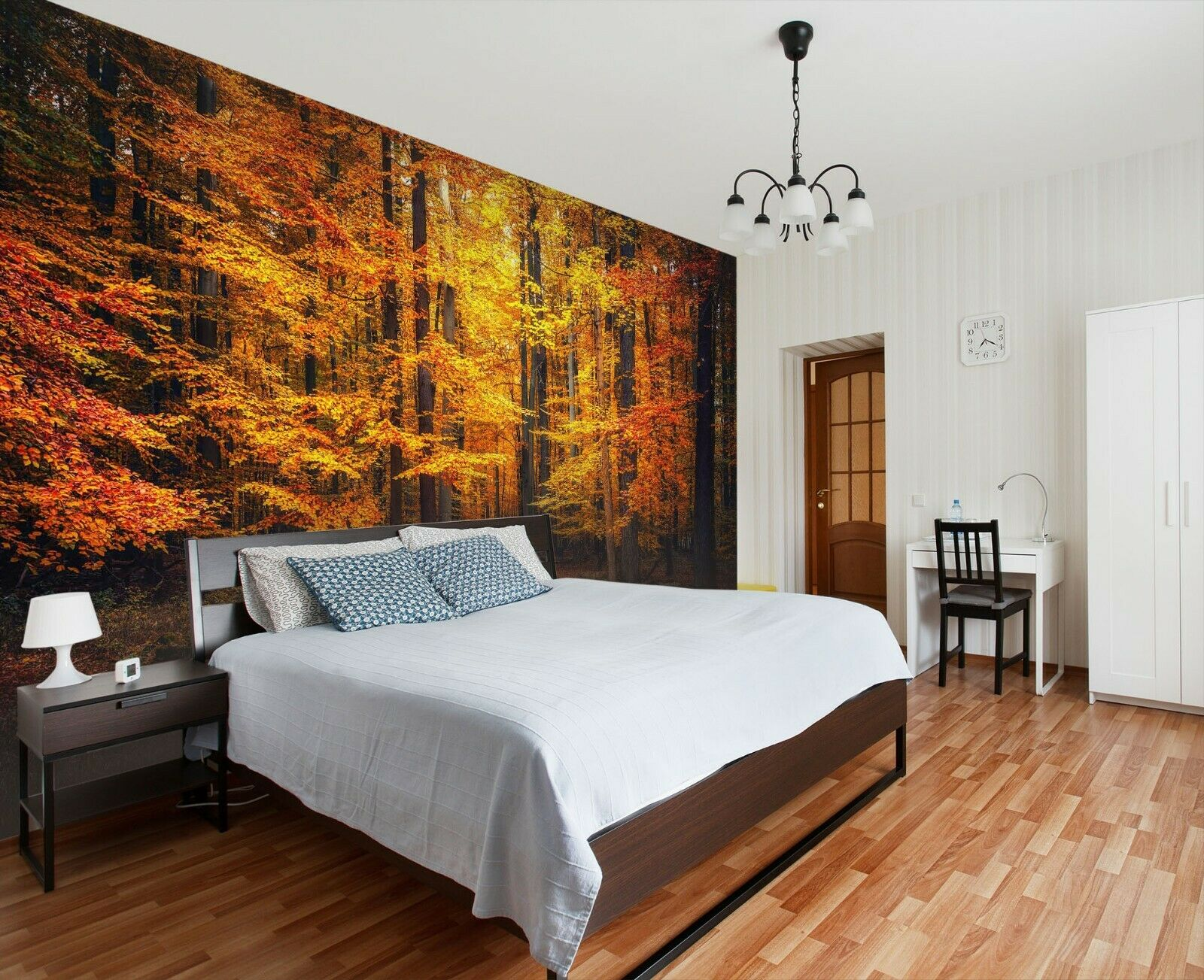 3D Waldblätter M20 Geschäft Tapete Wandgemälde Selbstklebend Handel An