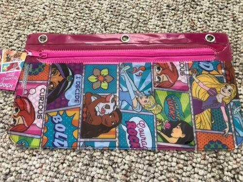 "Disney Princess   Pencil Pouch  10"" x 5.5""   3 Hole Case   NWT"