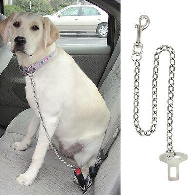 Dog Seat Belt Harness >> Dog Pet Car Safety Seat Belt Harness Restraint Chain Leads Travel Clip Buckle Ebay