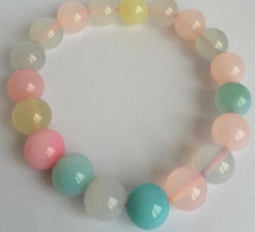 "10 mm Deco Authentique Rare Antique Art Calcédoine Agate Perles Bracelet 7.5/"" AA"