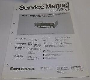 Panasonic auto logic control stereo cassette deck service manual cx image is loading panasonic auto logic control stereo cassette deck service publicscrutiny Choice Image