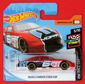 Hot-Wheels-2019-Dodge-Charger-stock-car-76-250-neu-amp-ovp
