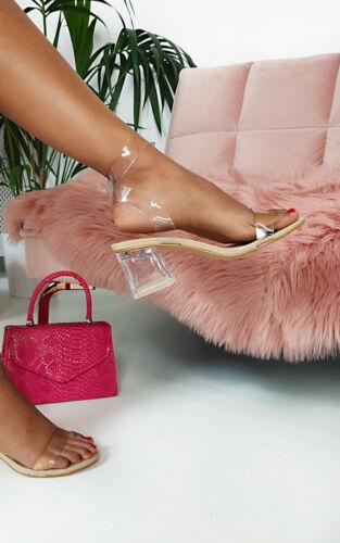 Ikrush Femme Steffi Perspex Block Heels