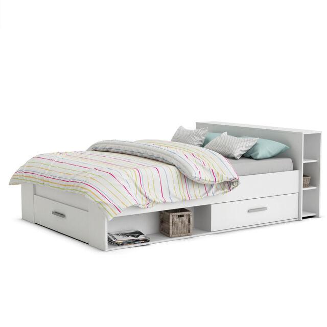 Funktionsbett Jugendbett Bett Doppelbett Pocket In Weiß 140 X 200 Cm