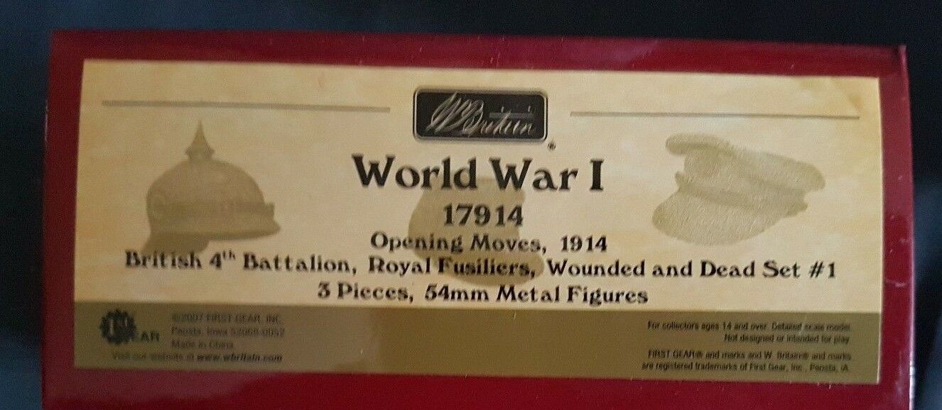 BRITAINS 17914 BRITISH ROYAL FUSILIERS WOUNDED + DEAD