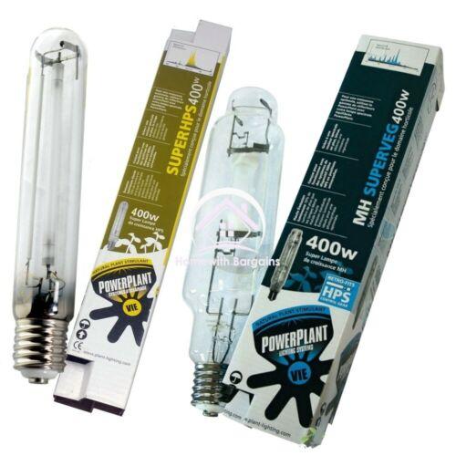 PowerPlant SuperVeg MH Veg Bulb /& HPS Super Flowering Lamp 250w 400w 600w 1000w