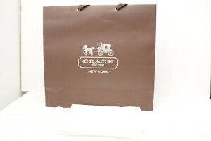 Coach-Brown-Large-Paper-Shopping-Gift-Bag-amp-Tissue-paper