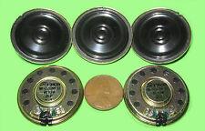 """5pc 1.25"""" Star Speaker, Small 32mm - 8ohm .4w SPRING CONTACTS Mini Tiny .4 watt"""