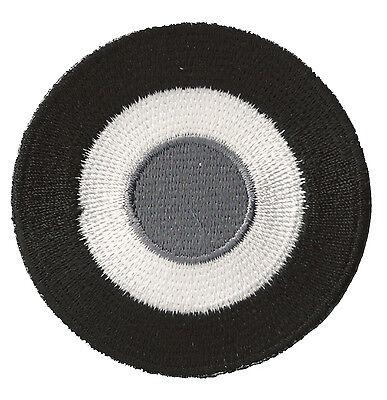 Patche patch écusson Cocarde Noir Blanc thermocollant