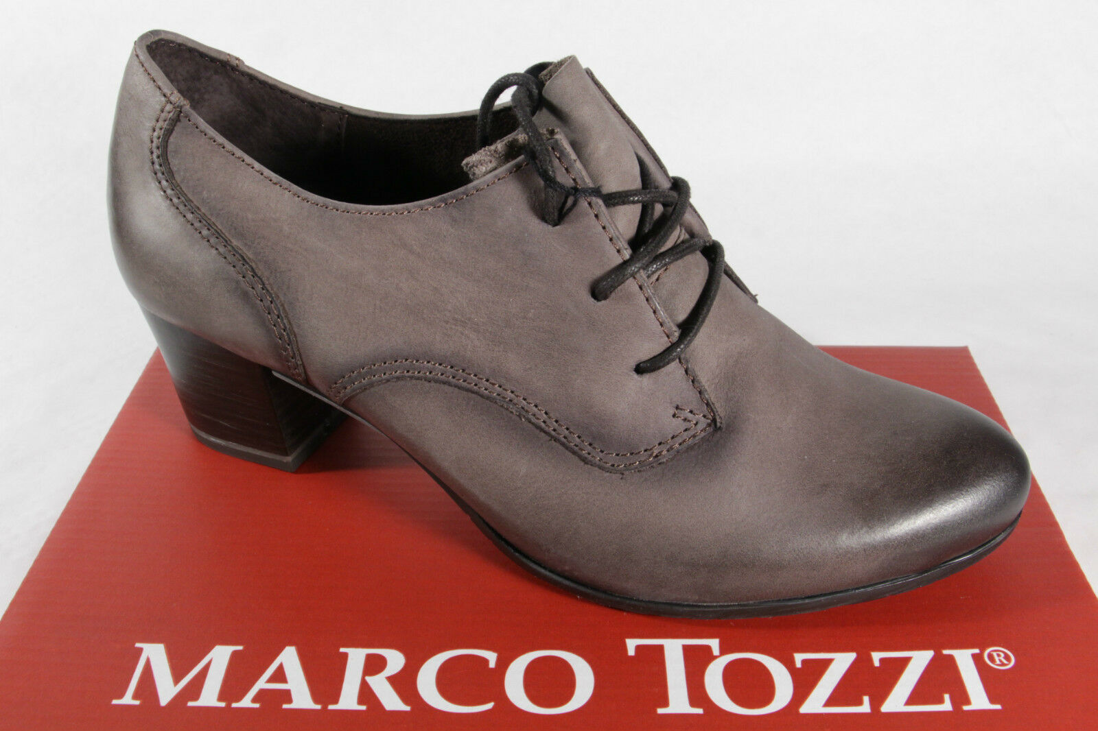 Marco Tozzi de zapatos  de Tozzi Cordones, Mocasines, Mocasínes, Gris, Cuero Aut. Nuevo 2583c6