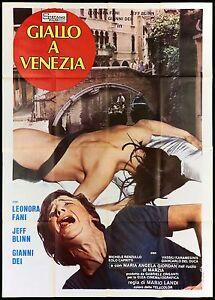 GIALLO A VENEZIA MANIFESTO CINEMA FILM GIALLO MARIO LANDI 1979 MOVIE POSTER 4F