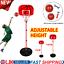 170CM FREE STANDING BASKETBALL NET HOOP BACKBOARD WITH ADJUSTABLE STAND SET