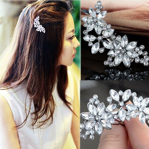 Frauen Braut Blume Headwear Strass Haarspange Kristall Haarspange Bobby Pin  YR