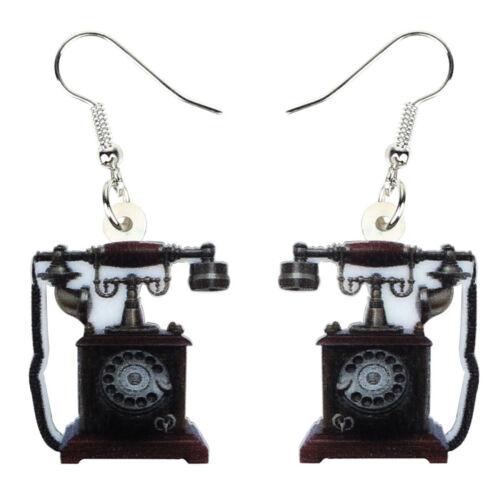 Acrylique Vintage Téléphone Machine à café Boucles d/'oreilles Dangle Bijoux pour Femmes Cadeaux