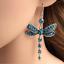 Femme Magnifique Couleurs Libellule Cristal Strass Plaqué Argent Crochet Boucles D/'oreilles