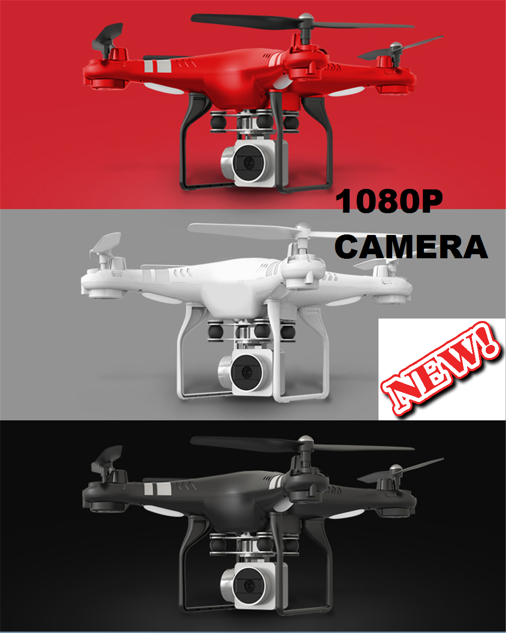FREE SHIPPING--WIFI DRONE SPLASH AUTO WITH 1080P CAMERA LIVE VIDEO AND GPS