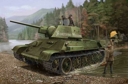 Hobbyboss 84808-1:48 Russian T-34//76 1943 No.112 Tank Neu