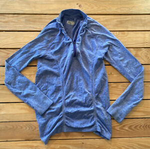 Athleta Women's Long Sleeve zip Up Stretchy Ruched Jacket Size M In Purple B4
