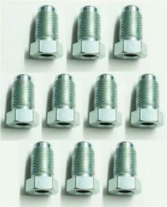 10x-Long-Male-Brake-Pipe-Union-Nuts-Imperial-Steel-Tubing-3-8-Unf-x-24Tpi-Joiner