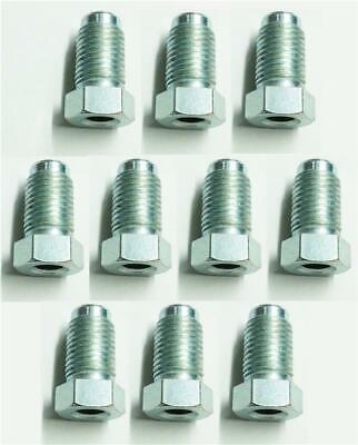 10x Lungo Maschio Condotta Del Freno Unione Nuts Imperial Tubi Di Acciaio 3/8 Unf X 24tpi Joiner- Lustro Incantevole