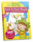 Giant Dot to Dot Book 300 Pages Bumper A4 Childrens Kids Summer Holiday Fun