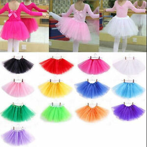 95c058f1f Girls Kids Baby Dance Fluffy Tutu Skirt Pettiskirt Ballet Dress ...