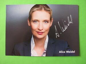 Autogrammkarte - Alice Weidel - AfD - orig. autograph