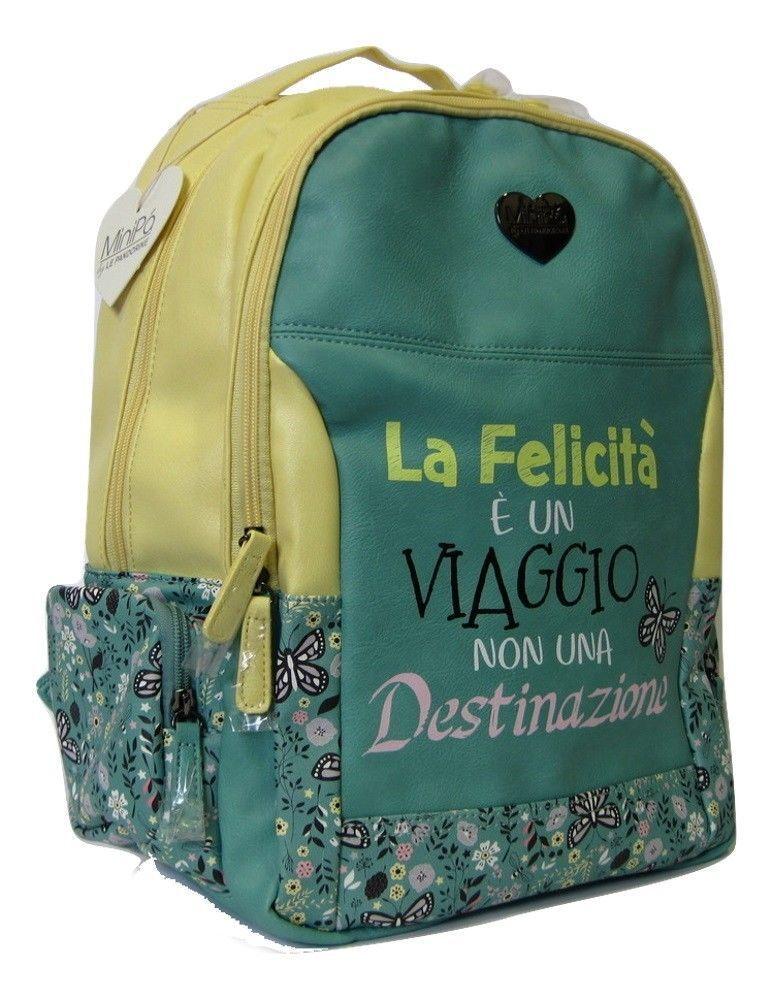 ZAINO Le Pandorine AMERICANO GIALLO AZZURRO MiniPa' scuola scuola scuola 2018 2019 Viaggio   Dall'ultimo modello    Promozioni    tender  2383f5