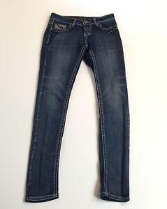 Rue 21 Slim Boot Cut Black Jeans Twenty One NWT Patter on Pocket New