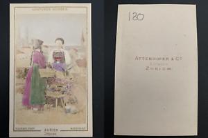 Richard-Maenedorf-marchandes-a-Zurich-Vintage-carte-de-visite-CDV