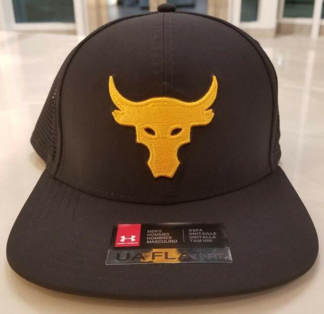 c807d8810b4 Under Armour UA Project Rock Supervent Flat Fit Snapback Hat Black  (1305063-001)