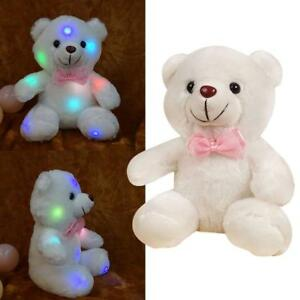 LED-Baer-Kuscheltier-Stofftier-Nachtlicht-Bunte-Gluehende-Pluesch-Tier-V2K7