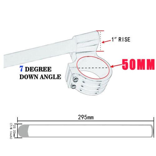 High Raised Clamp ClipOn Handle Bars APRILIA Mille RS250 DUCATI 750//900SS Monste
