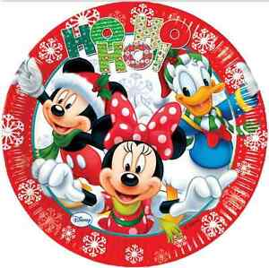 image is loading mickey amp minnie mouse christmas xmas 23cm party