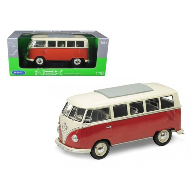 1:24 Welly VW matrícula t1 bus 1963 red//crema
