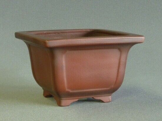 Tokoname Bonsai pot BIGEI Square 126mm×126mm×82mm