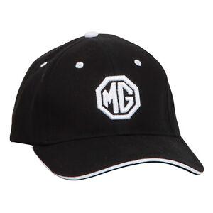 MG-Logo-Casquette-De-Baseball-Noir-Blanc-100-Coton-Ferme-panneau-avant-Octagon-Logo-nouveau