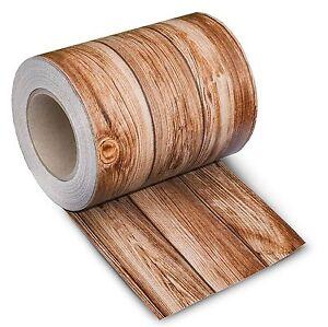 PVC Sichtschutz Streifen 35 M Holz-Optik 2 Zaunblende Doppelstabmatten ZaunFolie