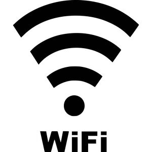 Wifi-Antenna-Waves-Text-Vinyl-Sticker-Decal-Choose-Size-amp-Color