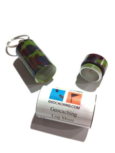 """Camo Bison Tube /""""Scuba Tank/"""" Geocache Container"""