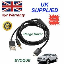 For Range Rover Evoque Micro USB & AUX Audio cable Samsung LG Galaxy Sony blk