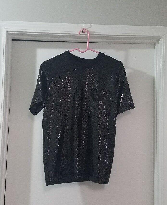 BUT GORDON HENDERSON for Sak's 5th Avenue schwarz  Sequins Woman Blouse Größe M