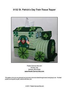 Patrick/'s Day Leprechaun Tissue Topper-Plastic Canvas Pattern or Kit St