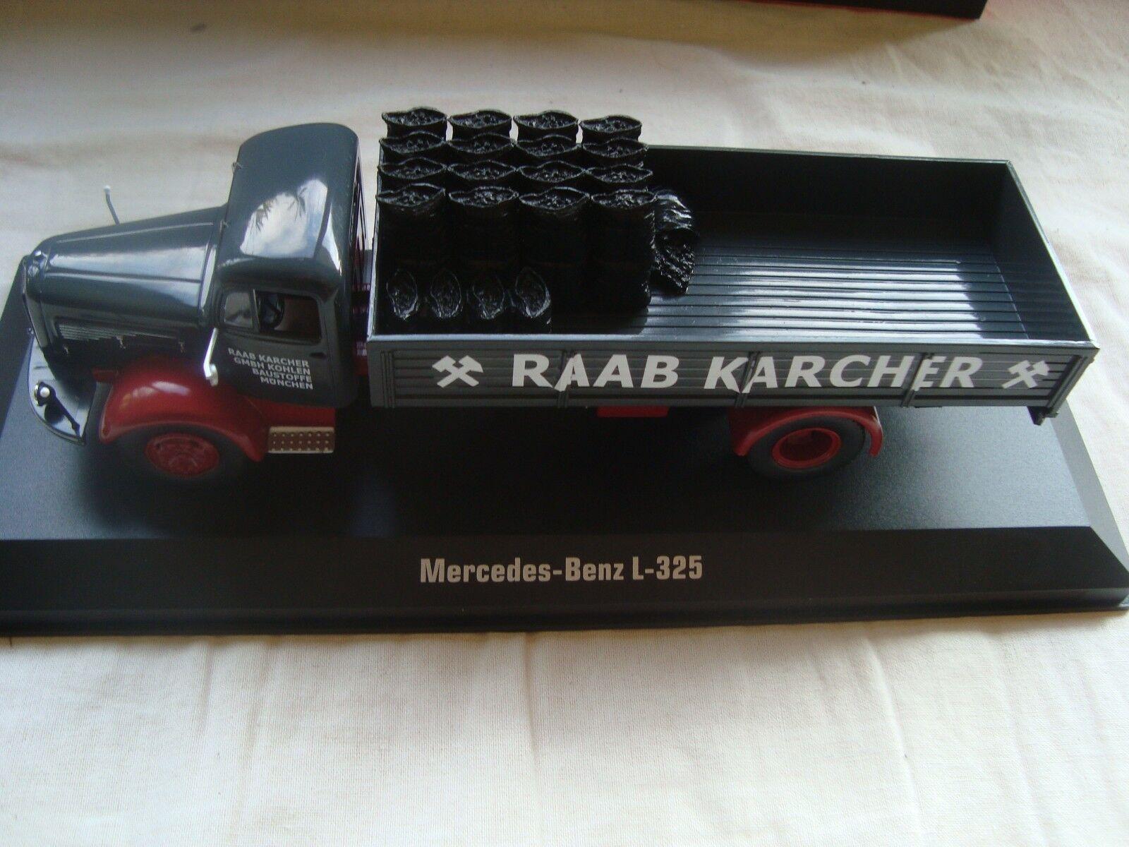 CAMION MERCEDES BENZ L-325 Raab Karcher avec autogaison CHARBON  1 43 Ixo TRU029