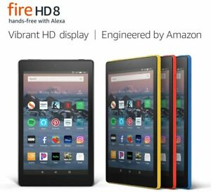 """Amazon Fire 8 Tablet with Alexa, 8"""" HD, 32GB, 2018 - 8th Generation- BRAND NEW"""