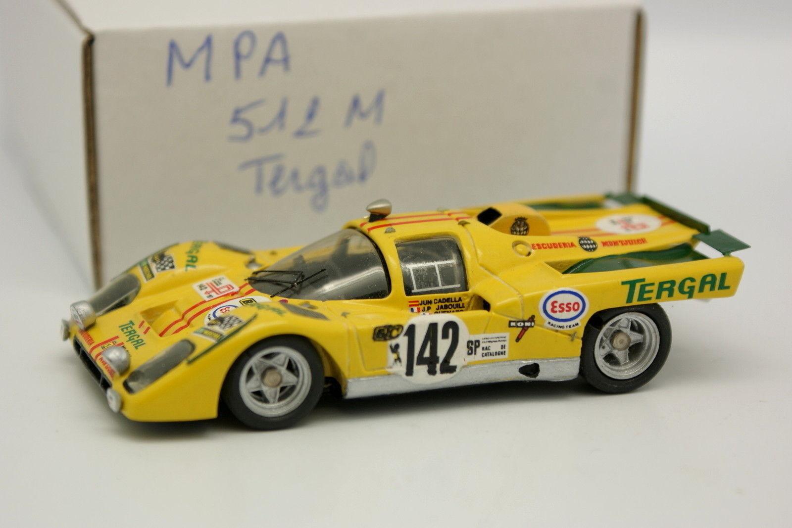 MPA Kit Monté 1/43 Ferrari 512 M M M Tergal Tour de France Auto 1971 N°142   Exquis  2cc96c