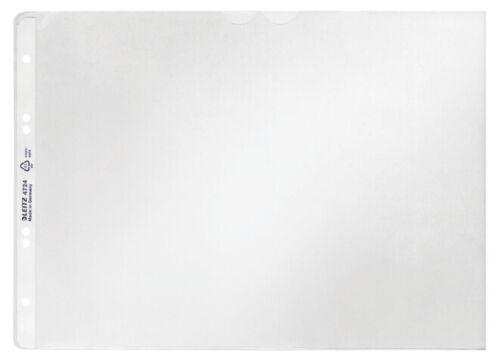 LEITZ Prospekthülle A4 quer PP genarbt 0,12 mm oben offen 50 Hüllen
