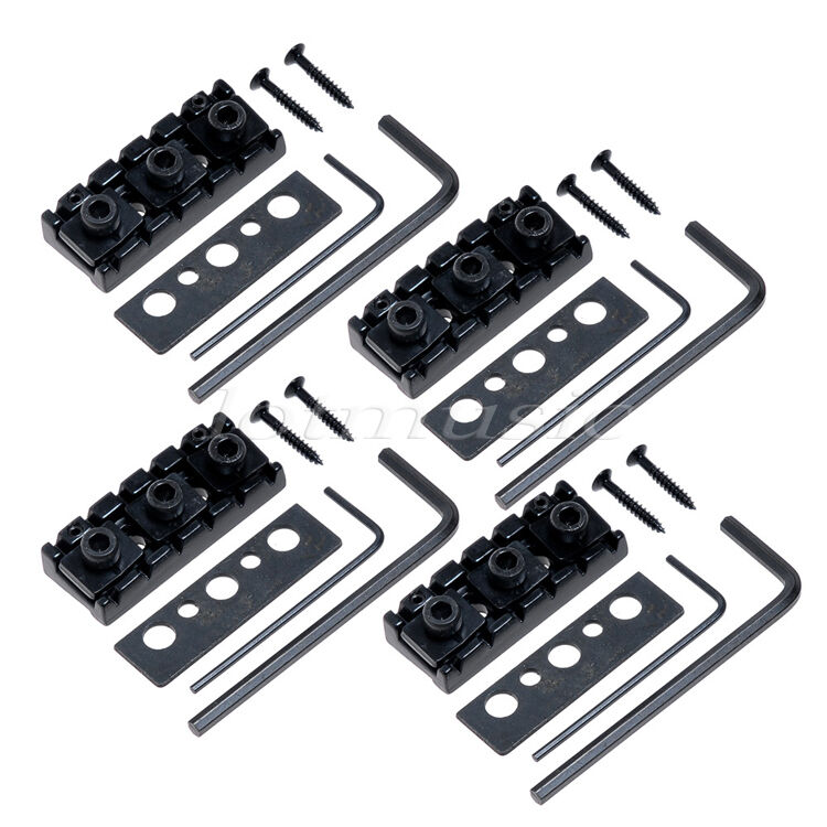 4 electric guitar locking nut floyd rose tremolo bridge nut replacement. Black Bedroom Furniture Sets. Home Design Ideas