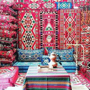 Oriental-Sofa-Corner-Set-PillowCase-HOOKAH-Lounge-Couch-Handwoven-BLUE-ANATOLIA
